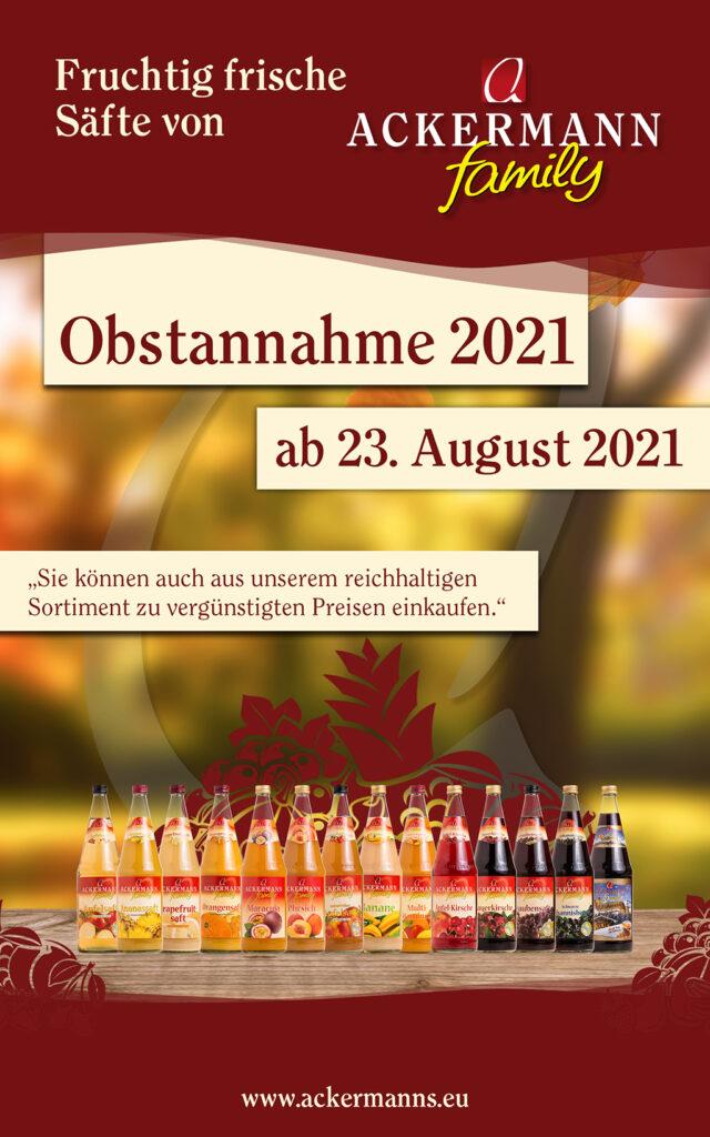 Obstannahme 2021